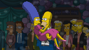 Homer and Marge dancing