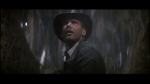 Indiana Jones escapes