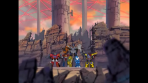 Optimus and his men now on the surface of Cybertron