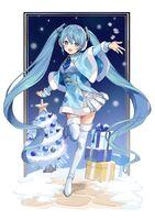 Yande.re 728582 christmas hatsune miku thighhighs urata asao vocaloid