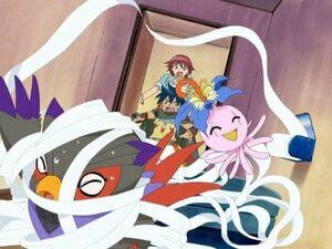 Falcomon, Yokomon, Yoshi, Keen