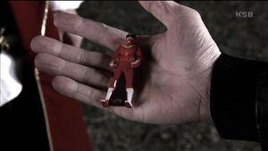 Tsuyoshi is holding his Ranger Key