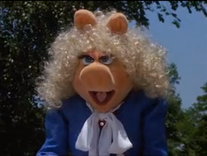 Miss Piggy's jealousy because she thinks Jenny is flirting with Kermit