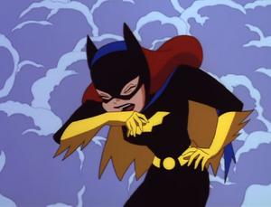 Batgirl coughing