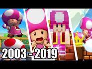 Evolution of Toadette (2003 - 2019)