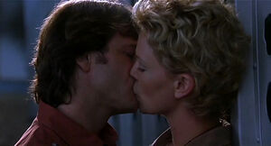 Jill Young and Gregg O'Hara's kiss