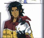 Kai holding Ogi's disembodied head