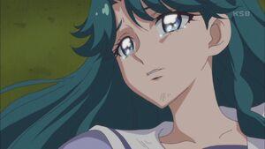 Minami crying