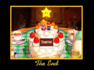 Super Mario 64 the end