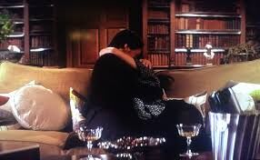 Moira kissing Charles