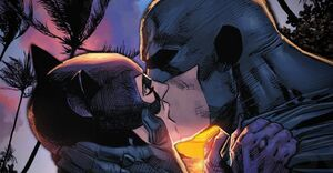 Batman Catwoman DC Comic Kiss