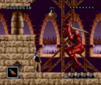 Bram Stoker's Drcaula - Jonathan Harker fighting against Dracula in his 15th century knight armor as seen in the SNES version of Bram Stoker's Dracula