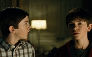 Simon with Jared in the film adaptation