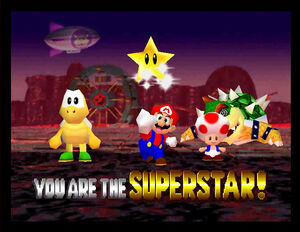 Mario party 2 mario koopa tropa bowser and toad in Bowser Land