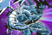 Obelisk the Tormentor punches Blue-Eyes Ultimate Dragon