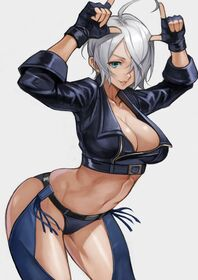 Angel the king of fighters drawn by yoshio 55level ce150556eafd6fb85f56d463c75d43b1
