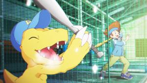 Digimon Mind Game - Agumon and Tai
