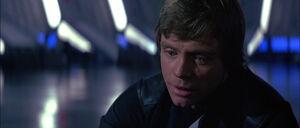 Luke Skywalker releasing stress after his father dies