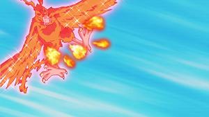 Birdramon using Meteor Wing