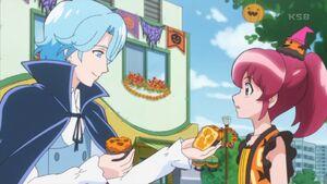 HCPC37 Blue Gives Megumi Cake
