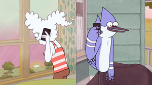 S6e28-007 mordecai and cj talking on the phone 02