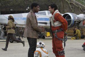Finn reunites with Poe