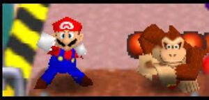 Mario Party 2 64 mario and dk in Balloon Burst