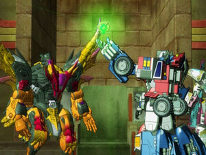 Optimus, Scourge and the Cyber Planet Key