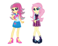 Wondercolt sour sweet and shadowbolt fluttershy by mixiepie-d9nx0gf