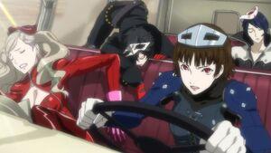 Makoto driving