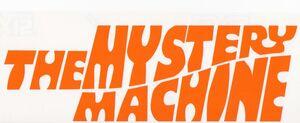 Mystery machine scooby doo sticker graphics camper van car