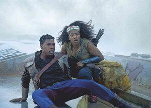 Finn and Jannah on the Death Star