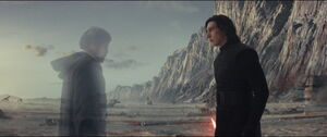Kylo sees Luke disappearing