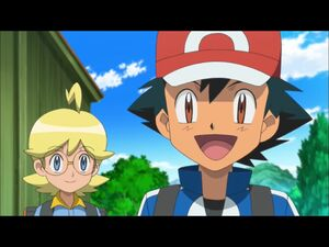 Ash and Clemont's break the forth wall