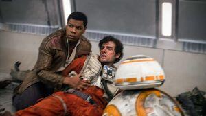 Poe, Finn and BB-8 - TLJ
