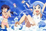 Yande.re 196887 bikini feet honda yoshino ikamusume megane sakura kiyomi shinryaku! ikamusume swimsuits