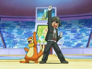 Ash and Buizel.