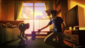 Agumon and Tai new movie