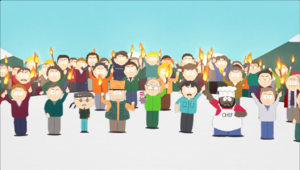 South Park angry mob
