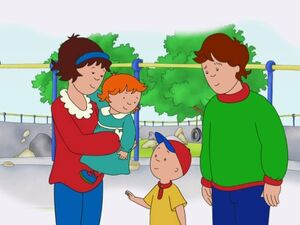 Caillou and his family