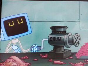 Karen Plankton is making some chum