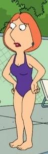 Lois griffin (violet bathing suit)