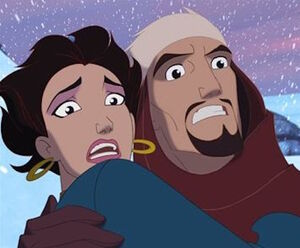 Sinbad and Marina escaping the Roc