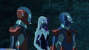 Spider-Man with Kid Arachnid and Spider-Gwen
