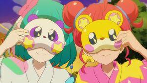 STPC25 Lala and Hikaru wearing animal masks