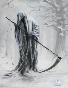 Grim reaper white