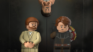 Rey sees Obi-Wan and Anakin - The LEGO Star Wars Holiday Special