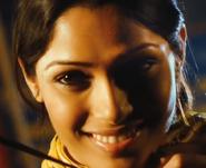 Latika smiling proudly