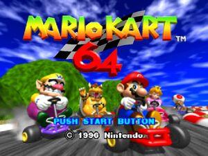 Mario Kart 64 title screen