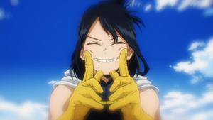 Nana showing Toshinori her smile